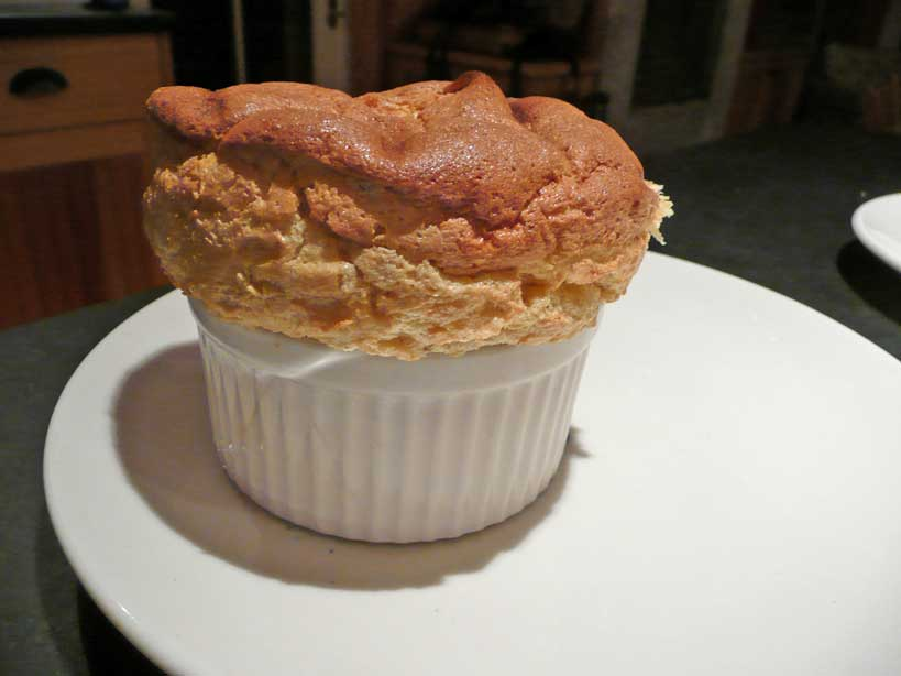 Spiced-Pumpkin Souffles with Bourbon Molasses Sauce [ printable ...
