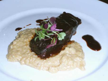 Short Rib and White Polenta