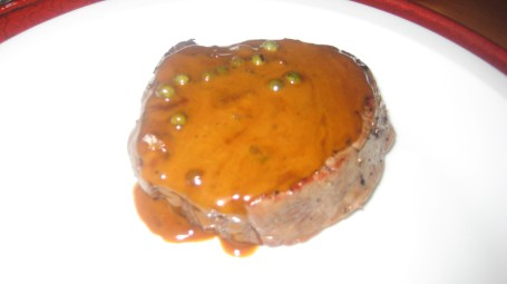 Filet with Peppercorn Sauce