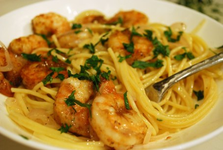 Old-Bay-shrimp pasta